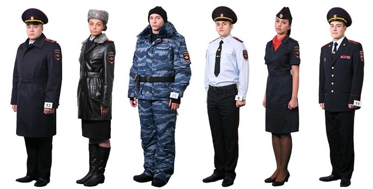 Образец ношения полицейской формы